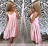 Платье сарафан летнее свободное разлетайка на бретелях, фото 5