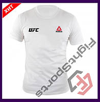 "Мужская Футболка UFC REEBOK WHITE (БЕЛЫЙ) ""В стиле"""