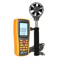 Анемометр професійний USB 0,3-45м/с, 0-45°C BENETECH GM8902X, фото 1