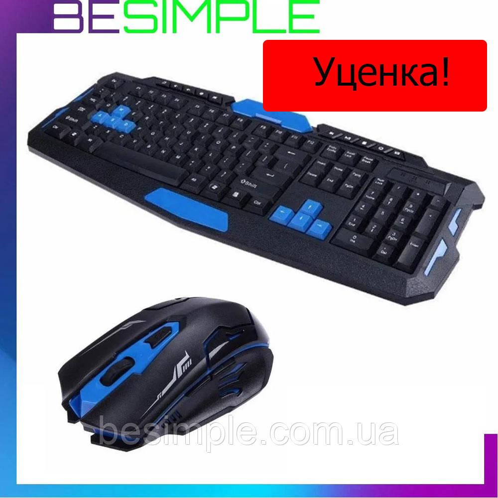 УЦЕНКА! Беспроводная игровая мышка с клавиатурой HK-8100