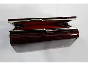 Гаманець жіночий шкіряний маленький лаковий бордовий Balisa 285-41, фото 2