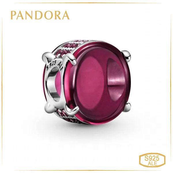 Пандора Шарм Овальний кабошон кольору фуксії Pandora 799309C01