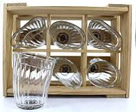 Пьяные граненные стаканы в наборе