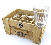 Пьяный граненный стакан