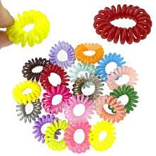 Цветные резинки пружинки для волос набор 50 шт