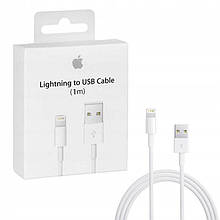 Зарядный кабель Lightning USB-кабель для Apple iPhone iPod iPad AirPods 1м White (MD818) Оригинал