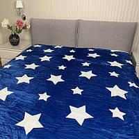 Плед Allbest флісовий зірки синій 145/200
