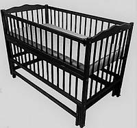 Кроватка детская Labona Мрия № 4 на шарнирах с подшипником, откидная боковина (Венге)