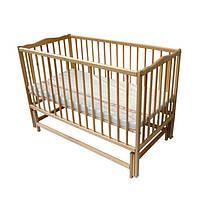 Кроватка детская Labona Мрия № 4 на шарнирах с подшипником, откидная боковина (Натуральный)