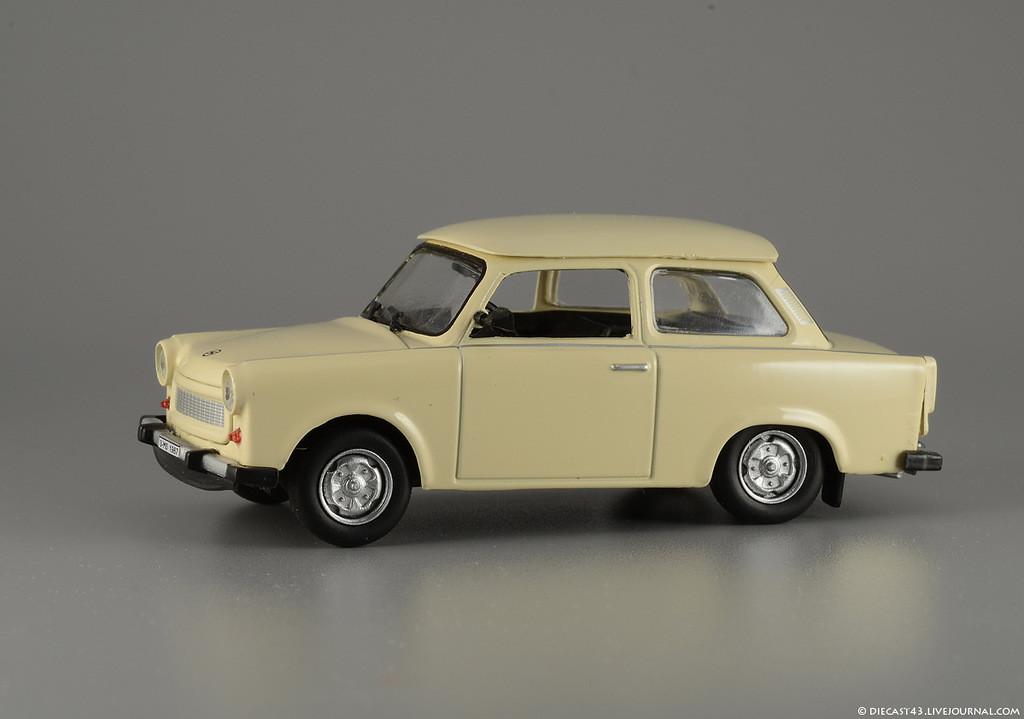 Автолегенды №151 TRABANT Р601 (ГДР) бежевый   Коллекционная модель 1:43   DeAgostini