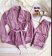 Жіноча стильна велюрова піжама