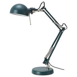 ФОРСО Лампа рабочая, темно-зеленый  00457278 IKEA, ИКЕА, FORSÅ