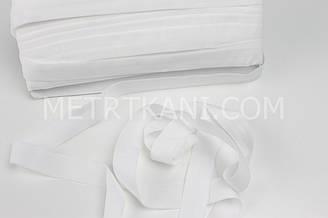 Эластичная бейка-стрейч белого цвета, ширина 20 мм КБ-19