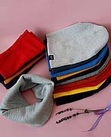 Комплект шапка и хомут для девочек и для мальчиков