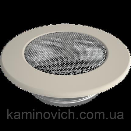 Решетка круглая кремовая Ø 125, фото 2