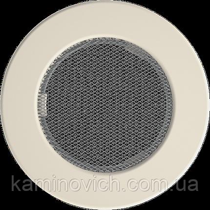 Решетка круглая кремовая Ø 150, фото 2