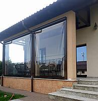 Мягкое окно для беседки, террасы Soft Glass Мягкое стекло для окон толщина 0.4 мм (шир.1.4 м) Прозрачное