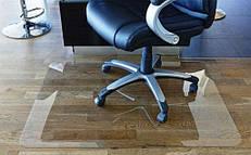Защитный прозрачный коврик, мягкое стекло на пол под кресло и другую мебель для защиты паркета, линолеума