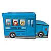 Бокс-пуфик для игрушек (School Bus голубой)