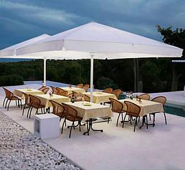 Зонт для летних кафе 4х4м + бетонная подставка, труба 60мм, ткань оксфорд 230г/м2