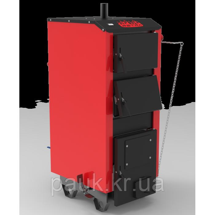 Котел на твердом топливе 32 кВт Ретра-5М Classic Standart, энергонезависимый(механический регулятор тяги), 5мм