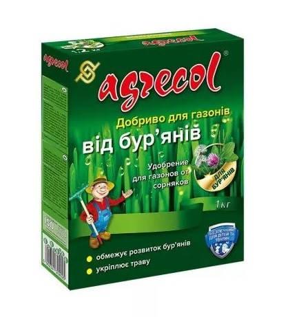 Добриво для газонів від бур'янів NPK (15,5-0-0) 1 кг, Agrecol, фото 2