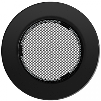 Решетка круглая черная Ø 125