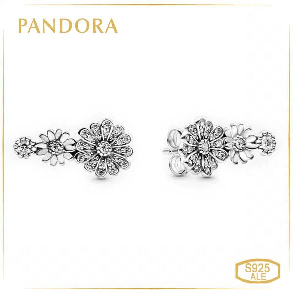 Пандора Серьги гвоздики Трио Маргариток Pandora 298876C01