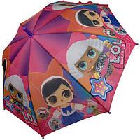 Зонтик ЛОЛ с куклами детский для девочки 4-8 лет Paolo Rossi трость полуавтомат 8 спиц Розовый (57205)