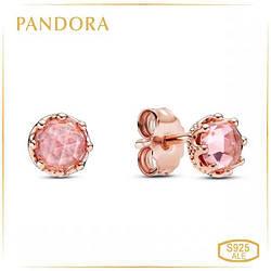 Пандора Серьги-гвоздики Сверкающая корона Rose Pandora 288311C01