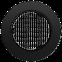 Решетка круглая черная Ø 150