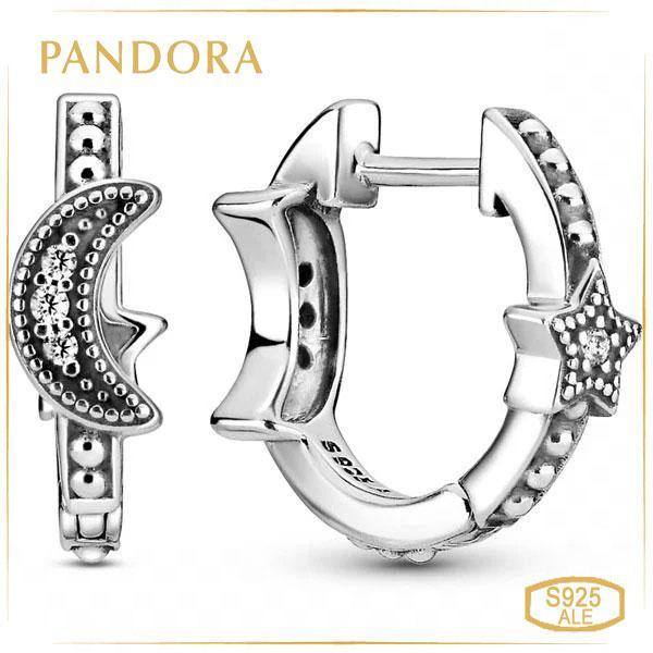 Пандора Серьги-кольца Полумесяц и звезды Pandora 299152C01