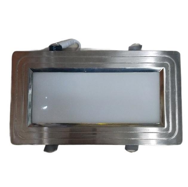 Світлодіодний світильник Horoz (HL690L) 12W 3000K прямокутник мат.хром (стельовий) Код.57138