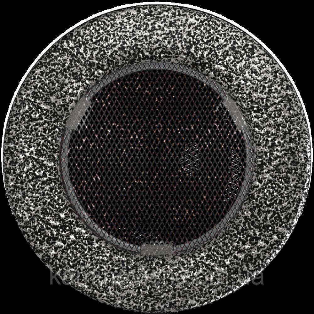 Решетка круглая черно-серебряная Ø 125