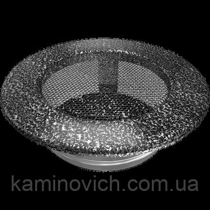 Решетка круглая черно-серебряная Ø 125, фото 2