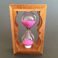 """Часы песочные """"розовый песок"""""""