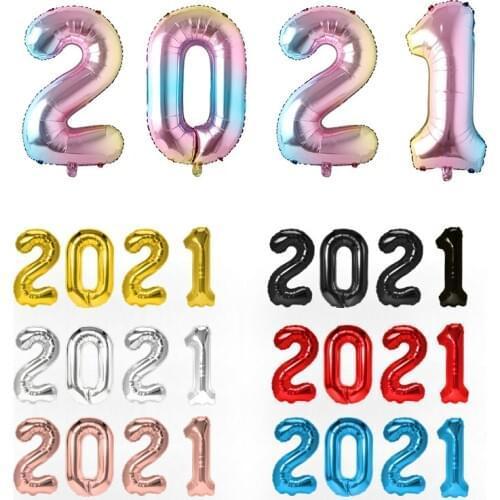 Шарики цифры 2021 метровые