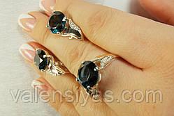 Женские серебряные украшения - серьги и кольцо, фото 3