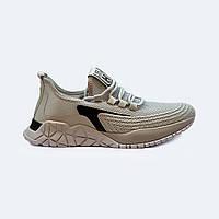 Мужские летние кроссовки текстильные серые на шнурках