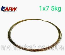 Поводковый матеріал AFW Surfstrand 1х7 10lb/5кг, 10м, 7-жильний