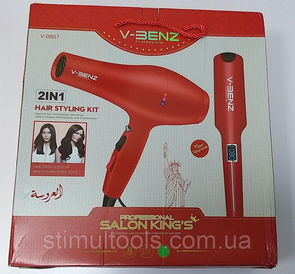 Набір для укладання волосся V-Benz V0807 фен+утюжок