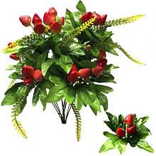 Декоративные искусственные цветы Клубника