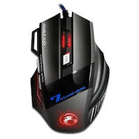 Игровая компьютерная мышь iMICE X-7 Gaming Dark Knight с LED подсветкой / Компьютерная