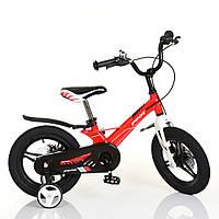 Велосипед дитячий двухколісний для хлопчиків з магнієвою рамою, колеса 14 дюймів, PROFI LMG14233