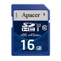Карта памяти Apacer 16GB SDHC UHS-I U3 Class10 RP (AP16GSDHC10U3-R)