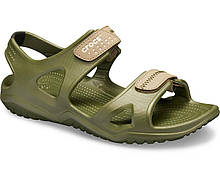 Сандалии мужские босоножки Кроксы оригинал / Crocs Men's Swiftwater River Sandal (203965), Зеленые