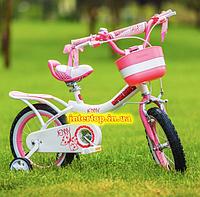 Детский двухколесный велосипед с корзинкой Royal Baby Jenny Girls 16 дюймов, розовый. Для девочки 4-7 лет