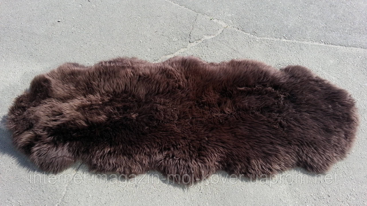 Двойная коричневая овечья шкура, шкура овцы цвета венге
