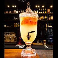 Лимонадница Royal ОРИГІНАЛ на підставці, 3л, МЕТАЛЕВИЙ кран (лимонадник, диспенсер)