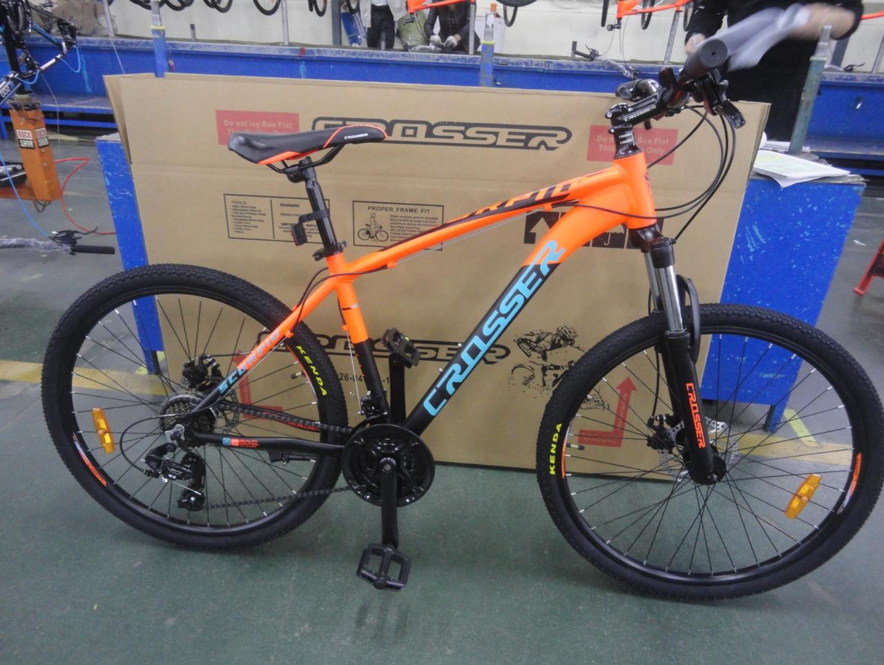 """Горный велосипед 26 дюймов Crosser Scorpio рама 17"""" Алюминий"""